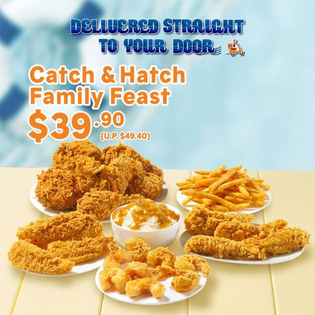 Popeyes Catch & Hatch Family Feast at $39.90