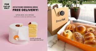 BreadTalk Free Delivery Offer 7 Apr 2020