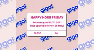 Giga Happy Hour Frida: 1-for-1 Special