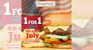 Morganfields 1-for-1 American Burgers