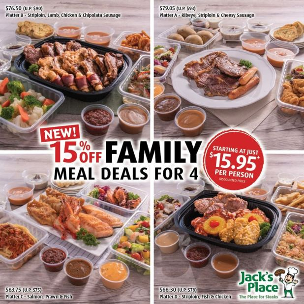 Jack's Place 15% OFF Family Meal Deals