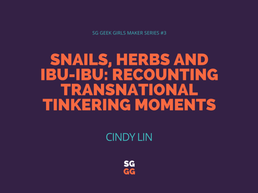 Snails, herbs and Ibu-Ibu- Recounting