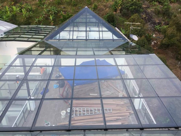glass roof roof glass glass roof