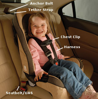Car seat pointers
