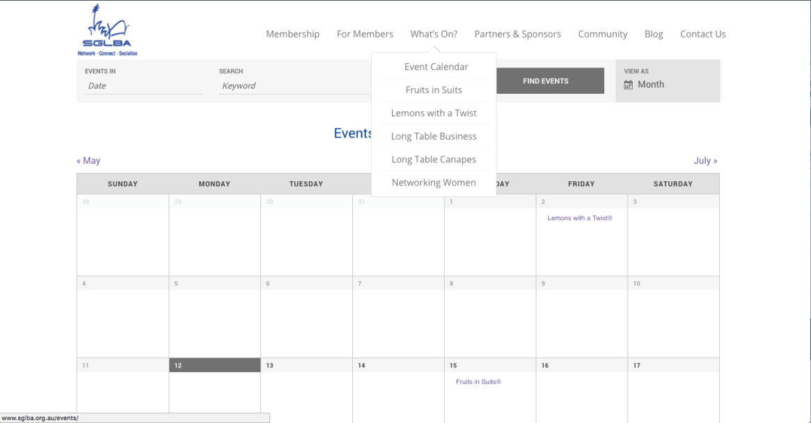 All SGLBA events will be posted here on the Events Calendar.