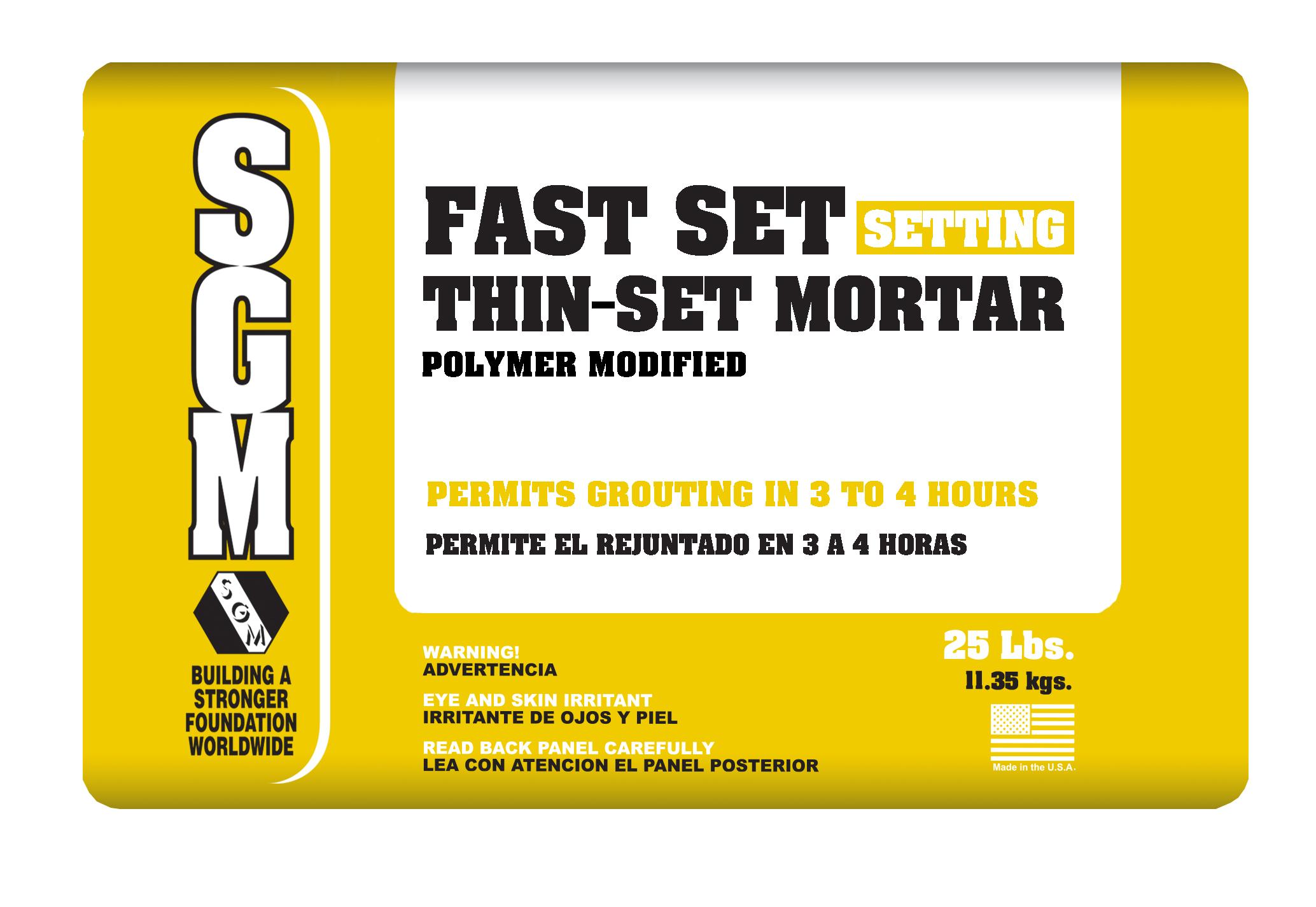 fast set thin set mortar polymer