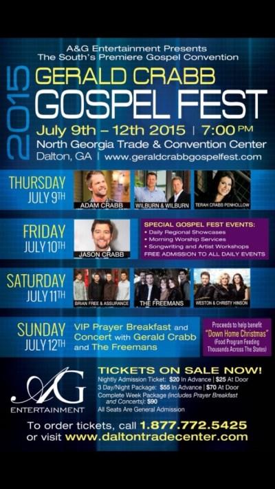 Gerald Crabb Gospel Fest 2015 Makes Final Preparations