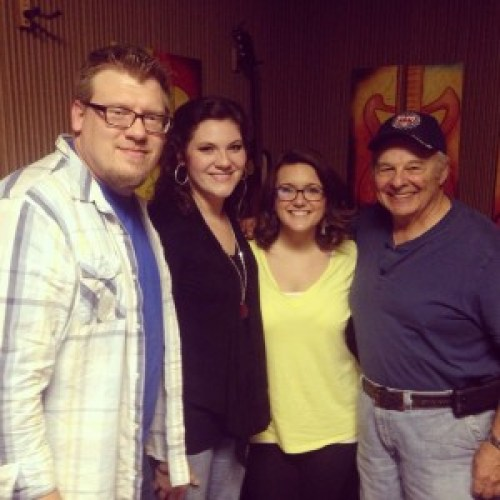 Pictured at Mansion Recording Studio Left to Right: Tony & Julie Griffith, Amber Smith, Vocal Producer Nick Bruno