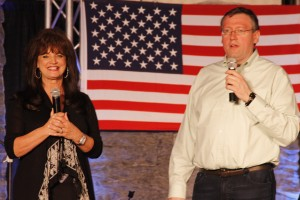 Ava Kasich and Rob Patz at 2015 Christian Country Expo