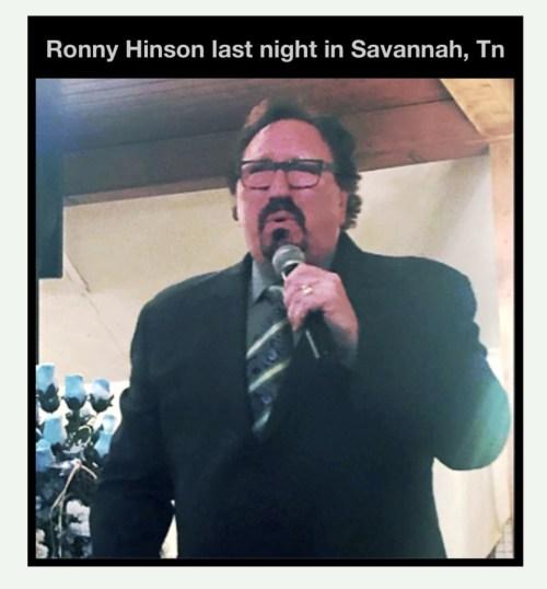 Ronny Hinson Concert Last Night