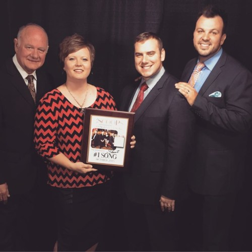 """The Williamsons receive plaque for Number One song, """"Shout"""""""