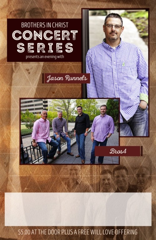 BROS.4 and Jason Runnels Announce Concert Series Partnership