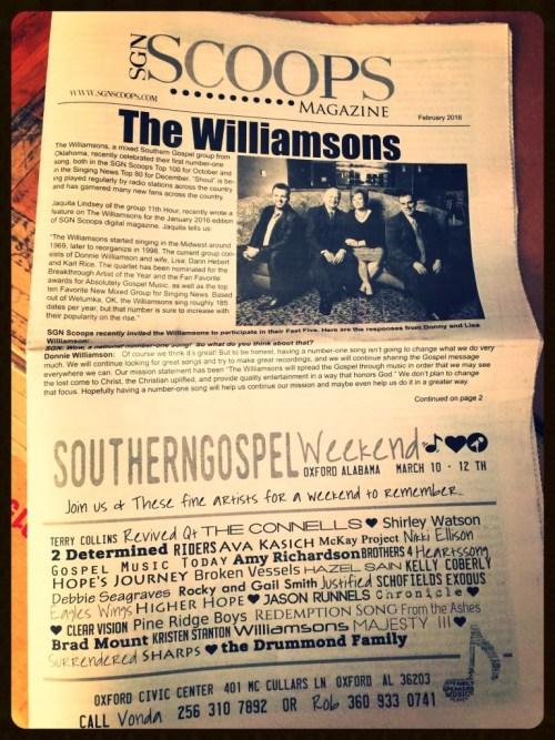 February 2016 SGN Scoops Newspaper