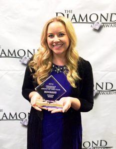 Sarah Davison of HighRoad at 2016 Diamond Awards