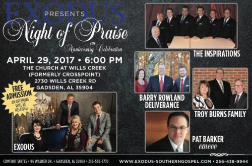 """A Night of Praise"" an Anniversary Celebration, in Gadsden, Alabama"