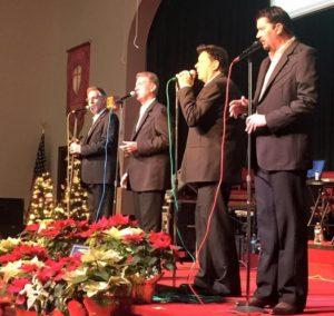 """Carolina Quartet showcasing the CD, """"Simple Christmas."""""""