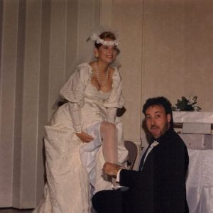 Chuck and Selena Day on their wedding day