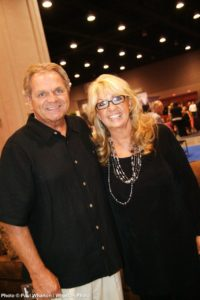 Two southern gospel movers, Chris White of Crossroads/ Sonlite Music and Beckie Simmons of BSA Talent.