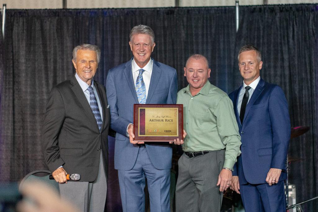 Arthur Rice receives Lifetime Achievement Award at Creekside 2018