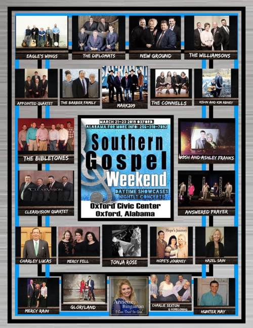 Southern Gospel Weekend 2019 to be featured on Andrew Brunet and Friends