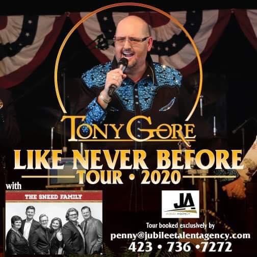 Press Release | Tony Gore Announces Live Band for 2020 Tour