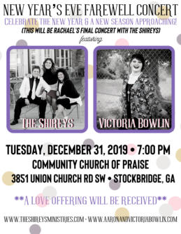 Fwd: Victoria Bowlin To Perform at Rachael Shirey Flowers Farewell Concert