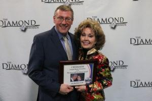 Rob Patz and Jan Goff at 2019 Diamond Awards