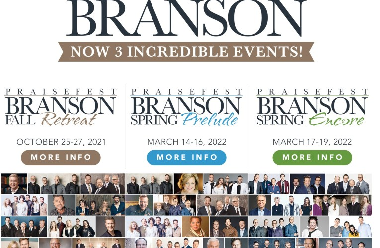 IMC Concerts Announces Tickets On Sale TODAY APRIL 19 For Praisefest Branson Spring Prelude & Encore