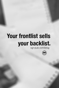 Book release strategies: Your frontlist sells your backlist