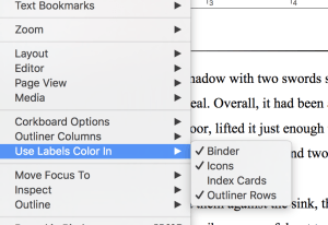 Scrivener Editing Tips: Label Colors