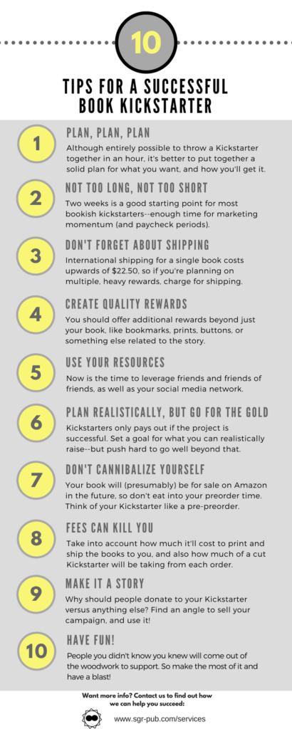 10 tips for a successful book kickstarter
