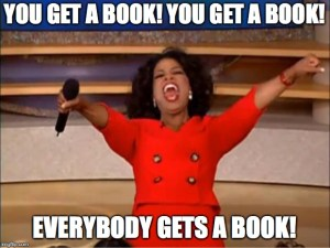 When you ship books from home, it can feel like Oprah giving away cars