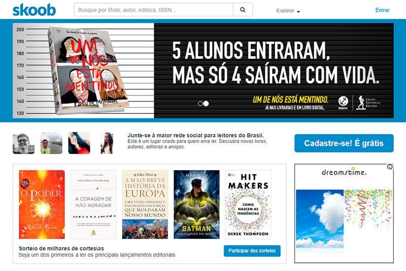 Skoob - Rede social para autores e leitores