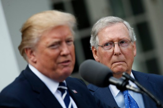 Trump, McConnell insist they're together for GOP agenda ...