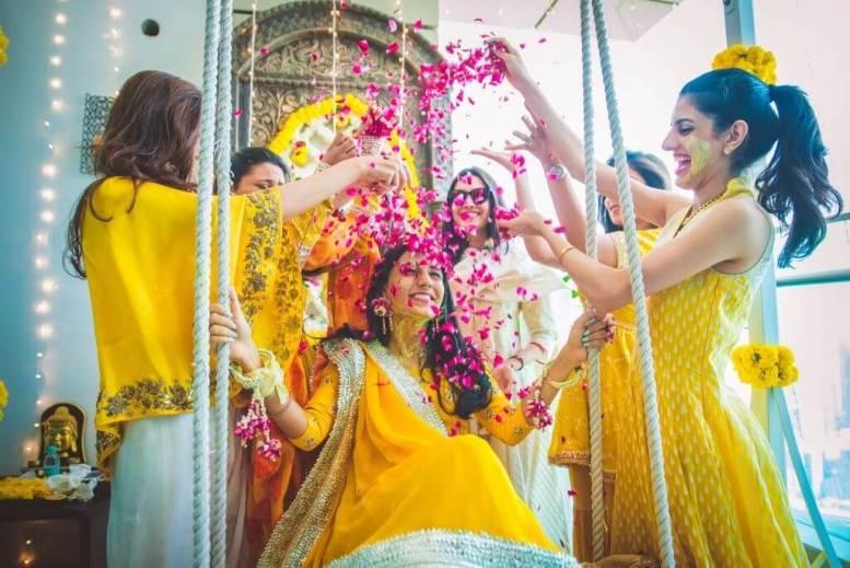 Celebrate Haldi ceremony With Flowers
