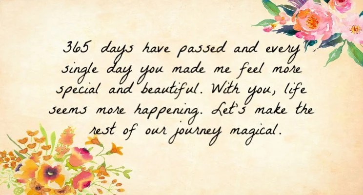 1st Wedding Anniversary Wishes For Friend 2