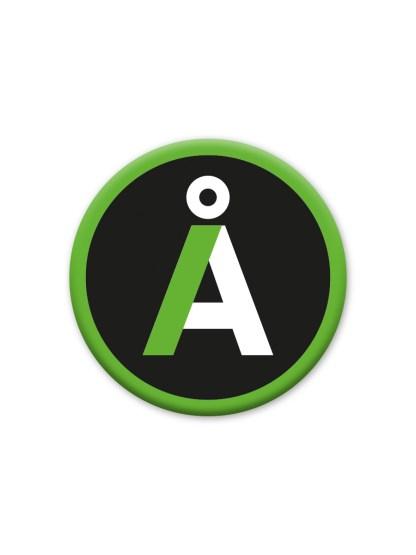 alternativet logo med sort baggrund