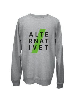 Sweatshirt graa med tryk - ALTERNATIVET