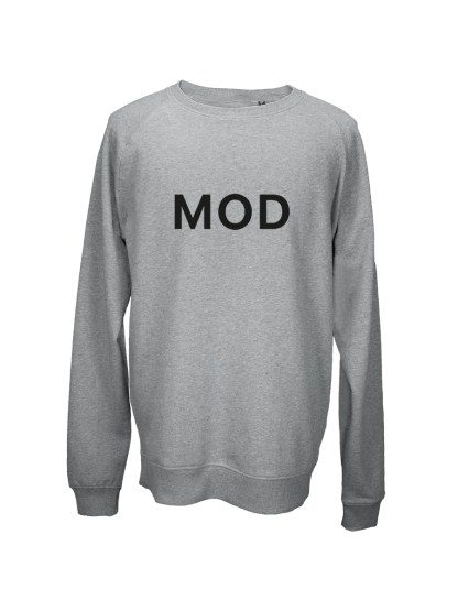 Sweatshirt graa med tryk – mod