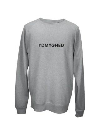 Sweatshirt graa med tryk – ydmyghed