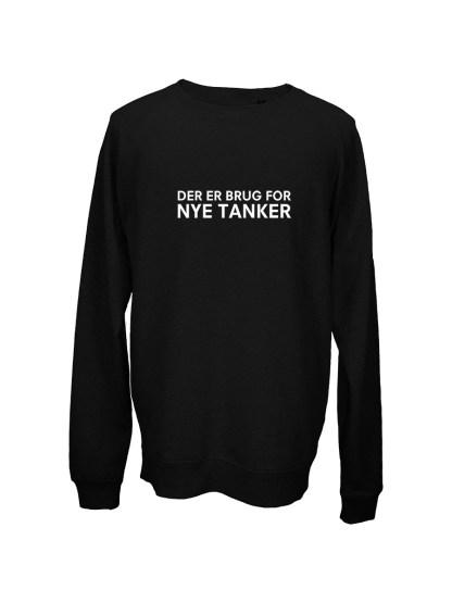 Sweatshirt sort med tryk – der er brug for nye tanker