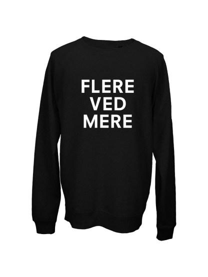 Sweatshirt sort med tryk – flere ved mere