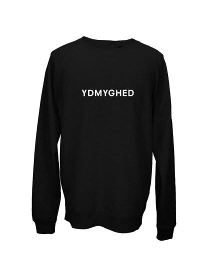 Sweatshirt sort med tryk - ydmyghed