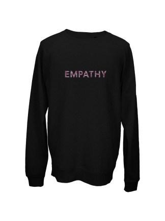 sweatshirt-sort-unisex-front-roed-empathy
