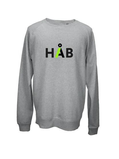 sweatshirt-med-tryk-haab-graa
