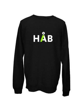 sweatshirt-med-tryk-haab-sort