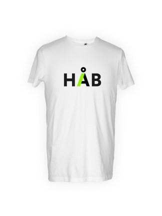 t-shirt-med-tryk-haab-hvid