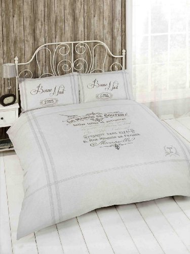 Beautiful French Grey Classic Single Duvet Cover Bed Set