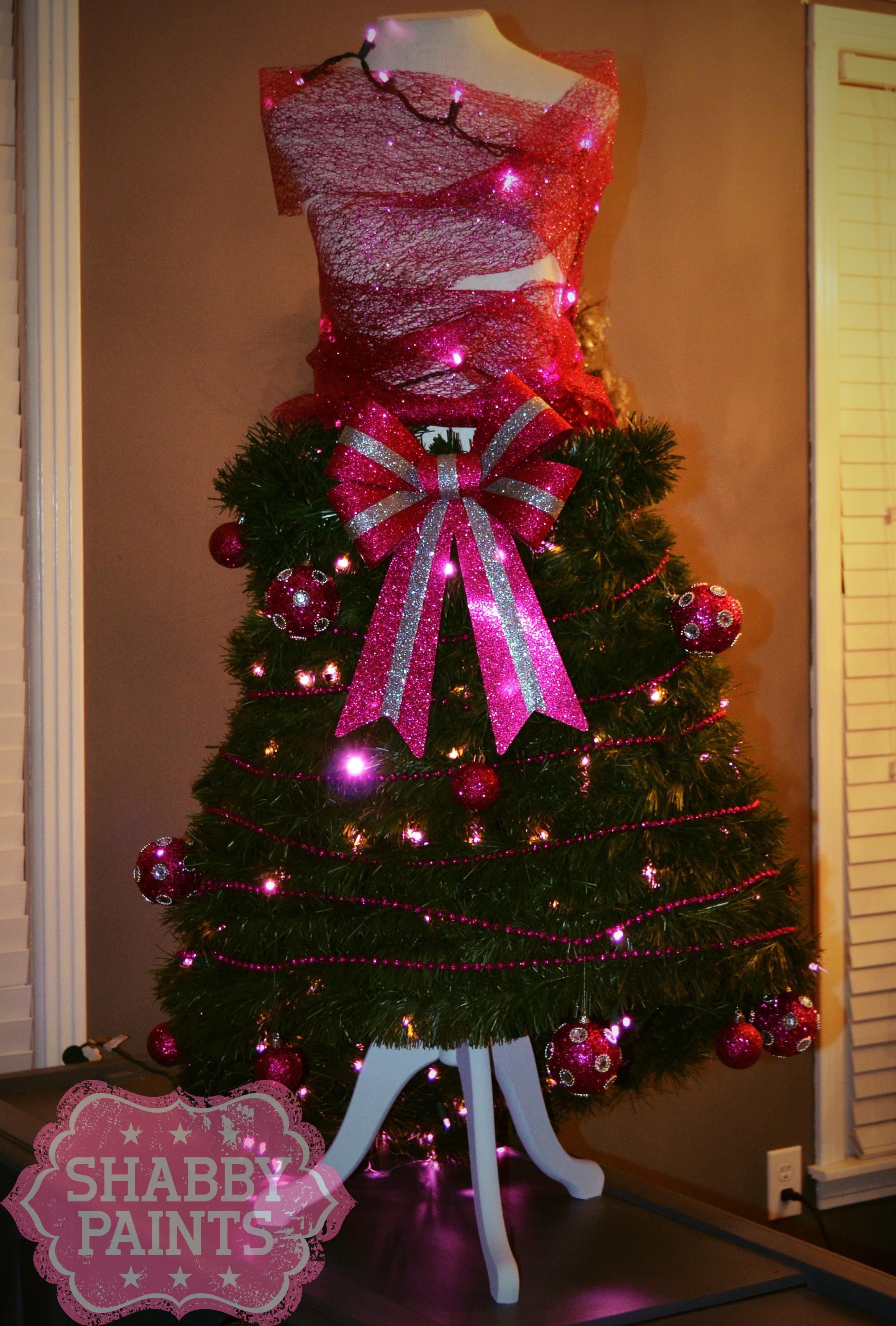 Dress Form Christmas Tree Shabby Paints