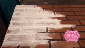 Before Painting Faux Brick